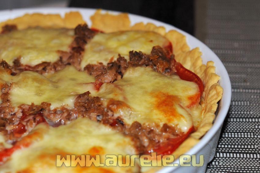 Recette De Tarte Au Thon A La Mozzarella Et A La Tomate